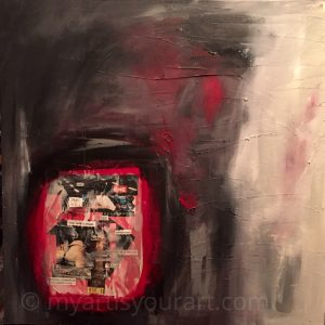 My Art is Your Art_multimedia in black and red by Jessica Ifshin